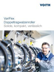 VariFlex Doppeltragwalzenroller Solide, kompakt, verlässlich - Voith
