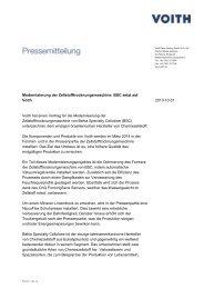 Modernisierung der Zellstofftrocknungsmaschine: BSC setzt ... - Voith