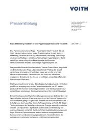 Fripa Miltenberg investiert in neue Hygienepapiermaschine ... - Voith