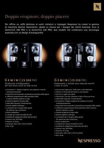 187760-Fiche gemini sheet OOH It-dall:fiche gemini ... - Nespresso