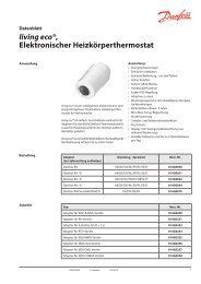 living eco®, Elektronischer Heizkörperthermostat - Danfoss Wärme ...