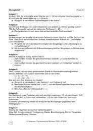 Uebungsblätter C. Jünemann WS0708