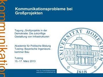 Kommunikationsprobleme bei Großprojekten - Akademie für ...