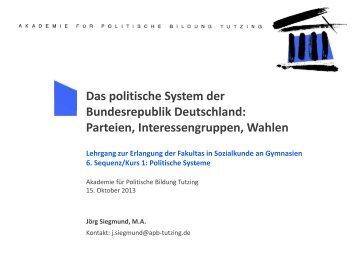 Parteien - Akademie für Politische Bildung Tutzing
