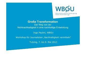 Große Transformation - Akademie für Politische Bildung Tutzing