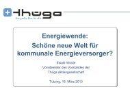 Energiewende - Evangelische Akademie Tutzing