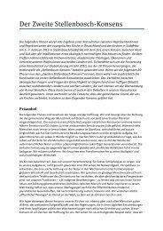 Präambel - Evangelische Akademie Tutzing