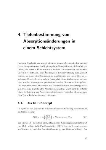 4. Tiefenbestimmung von Absorptionsänderungen in einem ...