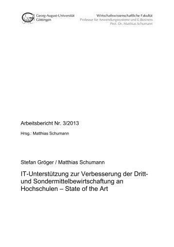 IT-Unterstützung zur Verbesserung der Dritt - Georg-August ...