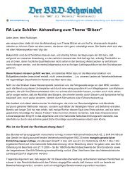 """RA Lutz Schäfer: Abhandlung zum Thema """"Blitzer"""""""