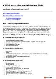 CFIDS aus schulmedizinischer Sicht