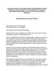 Weltmarktführer aus bester Familie - WiWi - Universität Paderborn