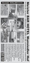Der Veranstaltungskalender Januar bis Mai 2014 - Wunsiedel