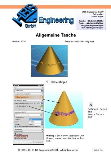 Allgemeine Tasche NX8 - CAD.de