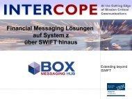 Financial Messaging Lösungen auf System z über SWIFT hinaus - IBM