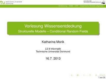 Vorlesung Wissensentdeckung - Strukturelle Modelle – Conditional ...