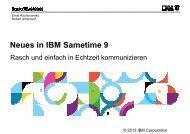 Neues in Sametime 9 - IBM