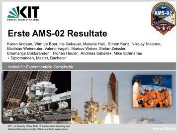 AMS - Institut für Experimentelle Kernphysik - KIT