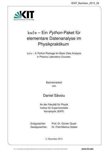 kafe – Ein Python-Paket für elementare Datenanalyse im ...