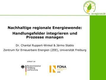 """Dr. Chantal Ruppert-Winkel - 5. Kongress """"100% Erneuerbare ..."""