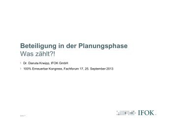 "Dr. Danuta Kneipp - 5. Kongress ""100% Erneuerbare-Energie ..."