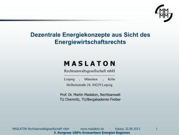 "M A S L A T O N - 5. Kongress ""100% Erneuerbare-Energie-Regionen"""