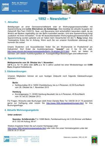 Newsletter +++ - Berliner Bau- und Wohnungsgenossenschaft von ...