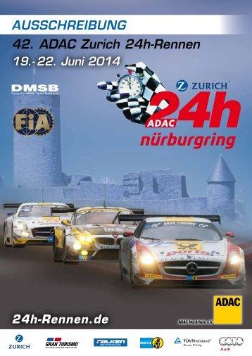42. ADAc Zurich 24h-rennen - 24 Stunden Rennen Nürburgring