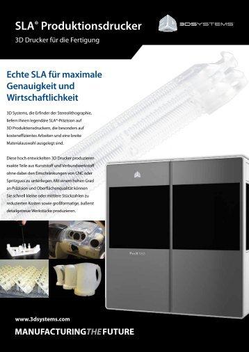 SLA® Produktionsdrucker - 3D Systems