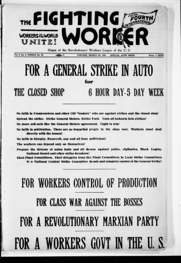 FOR A GENERAL STRIKE IN AUTO