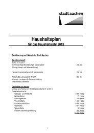 Haushalt 2013 beschlossen, Auszug - Stadt Aachen