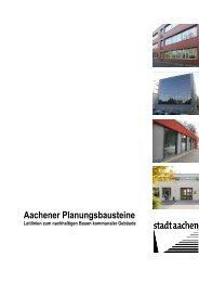 PDF-Version der Aachener Planungsbausteine - Stadt Aachen