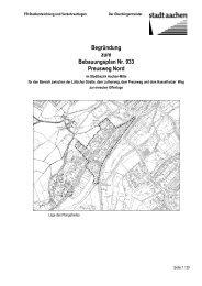 Begründung zum Bebauungsplan Nr. 933 Preusweg ... - Stadt Aachen