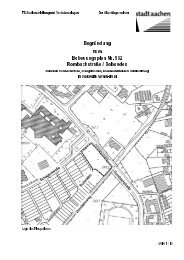Begründung zum Bebauungsplan Nr. 932 ... - Stadt Aachen