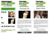Christoph Titz Denis Scheck