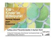 Vortrag beim Fachkongress - Stadt Aachen