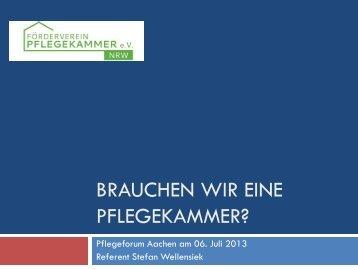 Förderverein zur Errichtung einer Pflegekammer in NRW