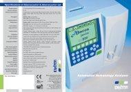 Specifications of Abacus junior & Abacus junior vet - Diatron