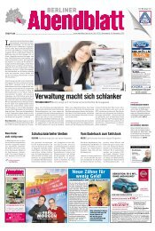 Verwaltung macht sich schlanker - Berliner Abendblatt