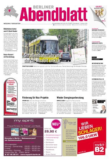 Straßenbahnführung durch moabit unklar - Berliner Abendblatt