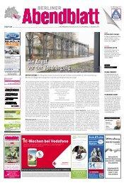 DieAngst vorderVerdrängung - Berliner Abendblatt