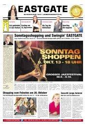 Sonntagsshopping und Swingin' EASTGATE - Berliner Abendblatt