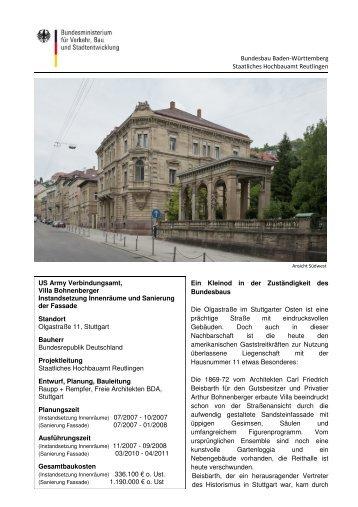 US Army Verbindungsamt, Villa Bohnenberger Instandsetzung ...