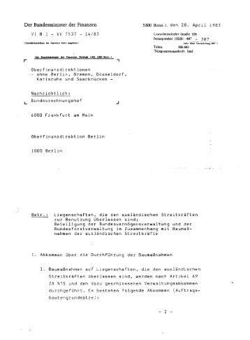 Der Bundesminister der Finanzen 5300 Bonn 1, den 2 B . Apr i l l 98 3