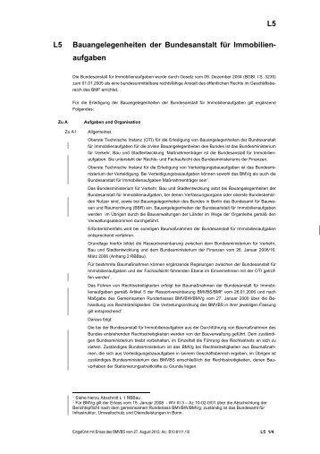 Abschnitt L 5 (Stand: 27.08.2013) - Baumassnahmen für die ...
