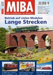 Betrieb auf vielen Modulen Lange Strecken - Verlagsgruppe Bahn