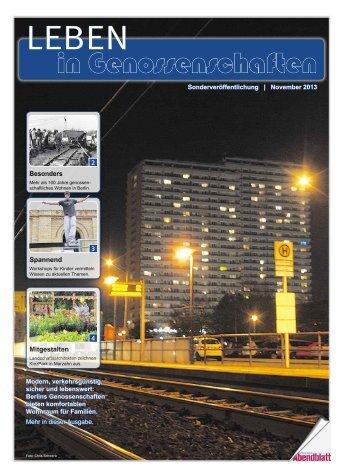 in Genossenschaften - Berliner Abendblatt