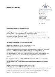 PM_ab 24 Nov Basare - Evangelische Kirchengemeinde Langenfeld