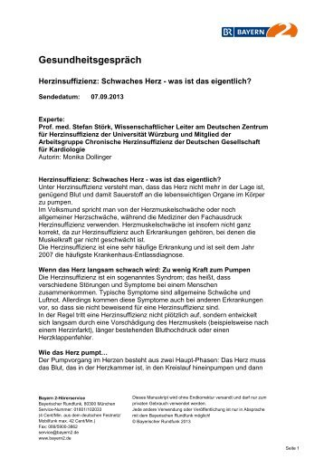 Bayern 2 - 07.09.2013 - Bayerischer Rundfunk