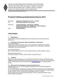 Protokoll Sektionspräsidentenkonferenz 2013 - USKA